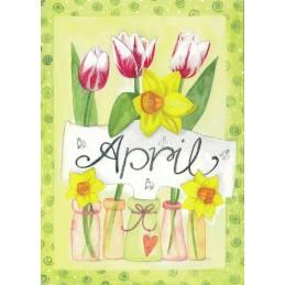 April - Tulpen - Monats-Postkarte