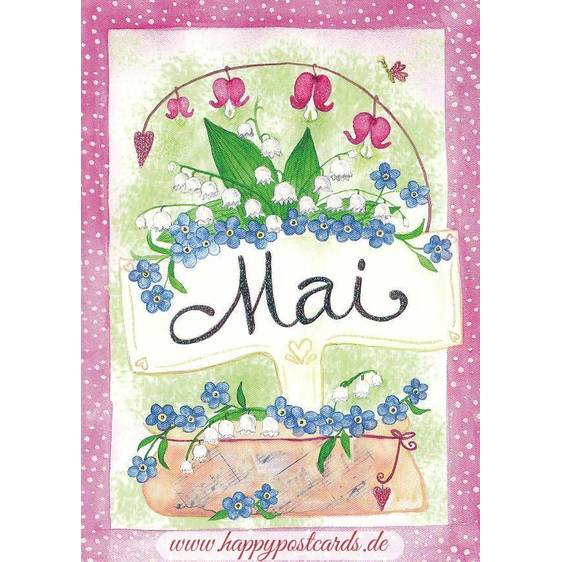 Mai - Lily of the valley - Monthly Postcard