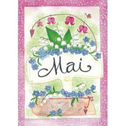 Mai - Maiglöckchen - Monats-Postkarte