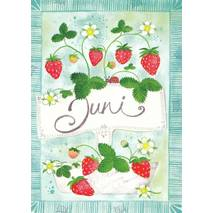 Juni - Strawberries - Monthly Postcard