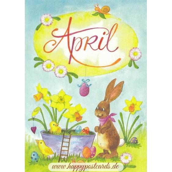 April - Narcissus - Monthly Postcard