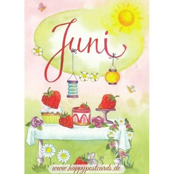 Juni - Strawberrycake - Monthly Postcard
