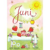 Juni - Strawberrycake - Monthly Postcard