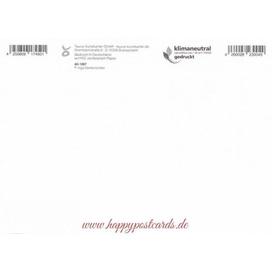 Juni - Erdbeertorte - Monats-Postkarte