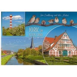 Jork - Spatzen - Ansichtskarte