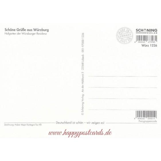 Würzburg - Residence -  Viewcard