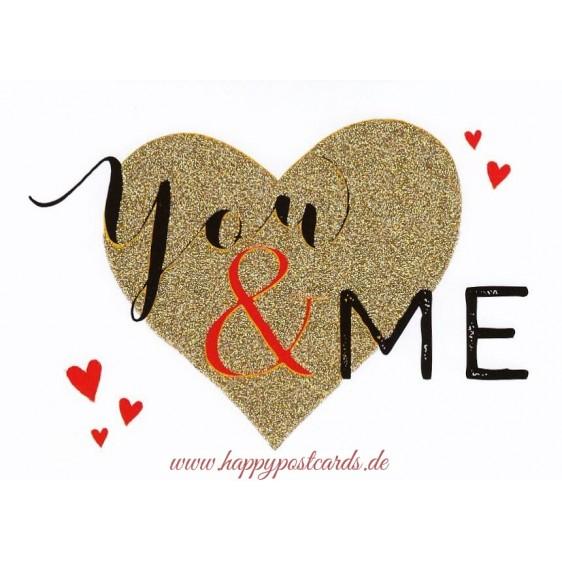You & Me - Postkarte