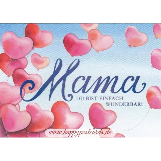 Wunderbare Mama - Postcard