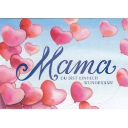 Wunderbare Mama - Postkarte
