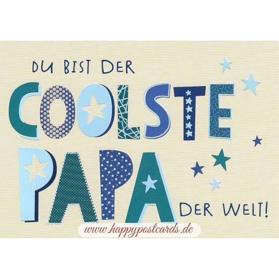 Coolster Papa - Postcard