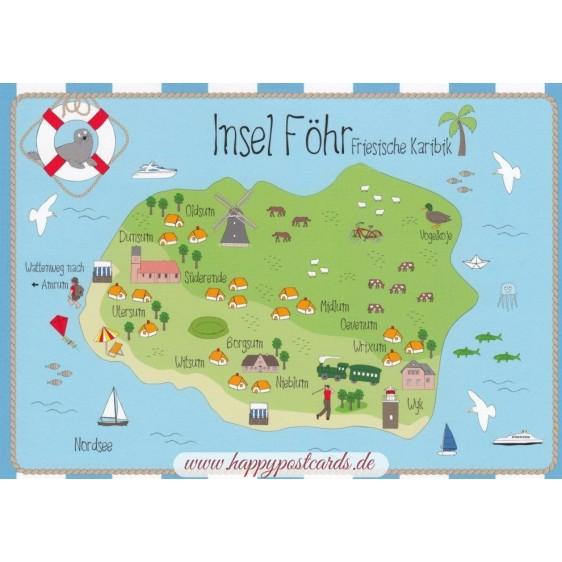 Island Föhr - map