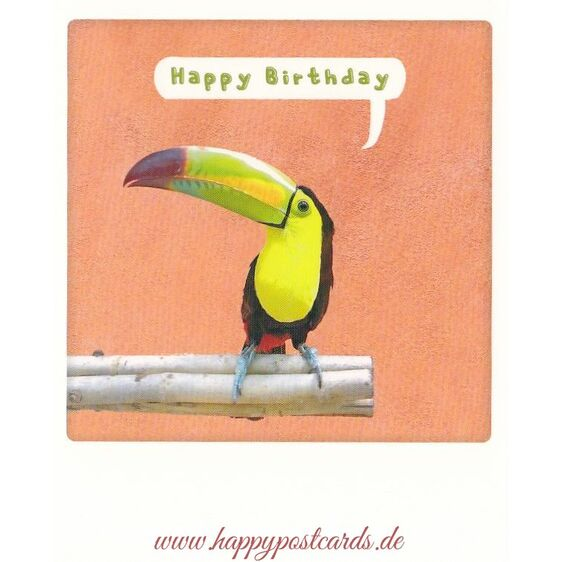 Happy Birthday Toucan - Pickmotion Postcard