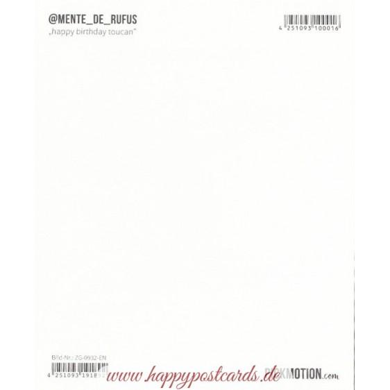 Happy Birthday Toucan - Pickmotion Postkarte