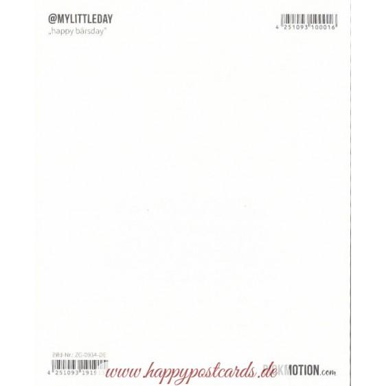 Happy Bärsday - Pickmotion Postkarte
