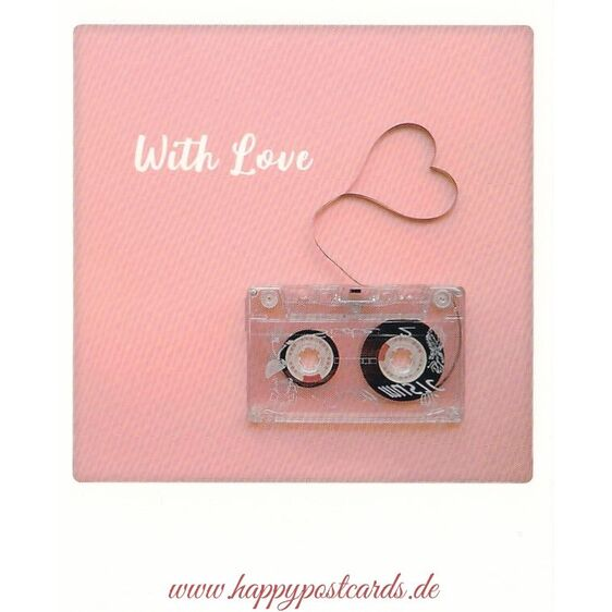 Tape - with love - Pickmotion Postcard