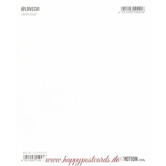 Kassette - with love - Pickmotion Postkarte