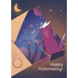 Happy Postcrossing - Swing - Postcard