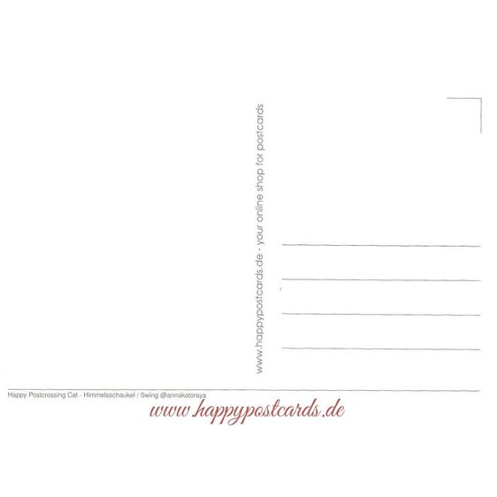 Happy Postcrossing - Himmelsschaukel - Postkarte