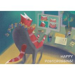 Happy Postcrossing - Online Meeting - Postkarte