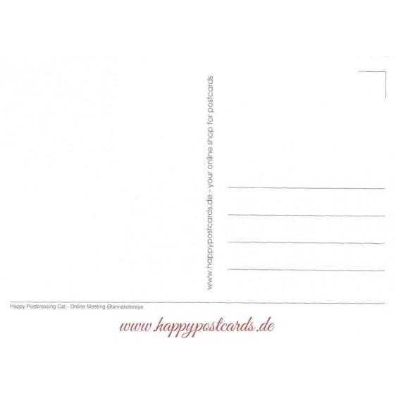 Happy Postcrossing - Online Meeting - Postcard