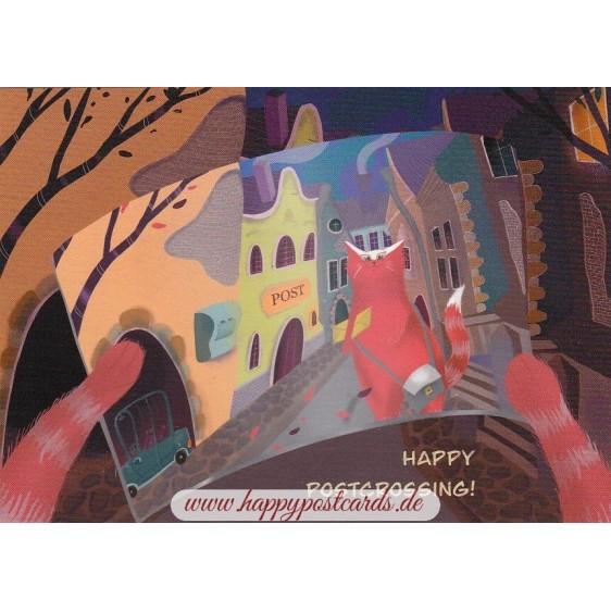 Happy Postcrossing Postcard - Postcard