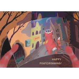 Happy Postcrossing Postkarte - Postkarte