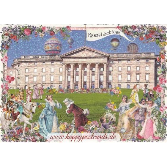 Kassel - Castle - Tausendschön - Postcard