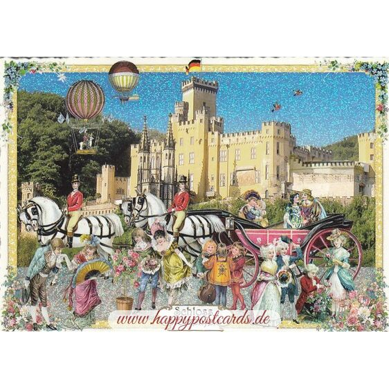 Castle Stolzenfels - Tausendschön - Postcard