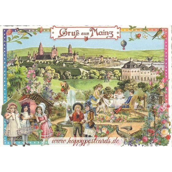 Gruß aus Mainz - Tausendschön - Postcard