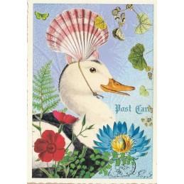 Ente - Tausendschön - Postkarte
