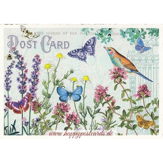 Meadow with Butterflies - Tausendschön - Postcard