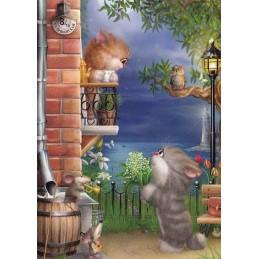 Erste Liebe - Alexey Dolotov - Postkarte