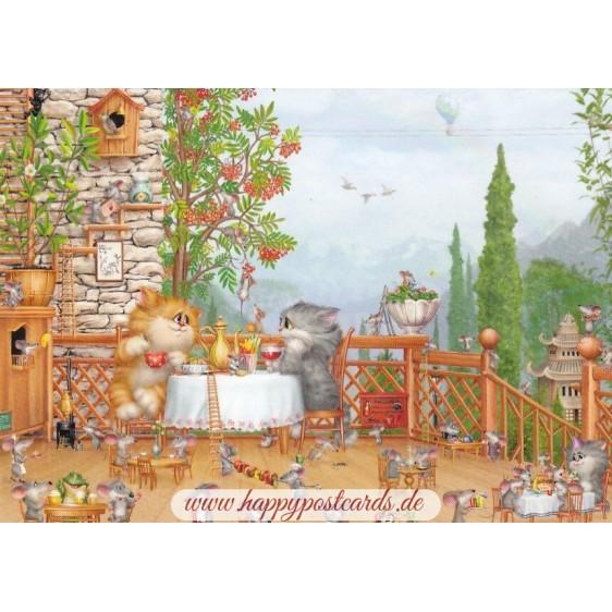 Romantischer Sommerabend - Alexey Dolotov - Postkarte