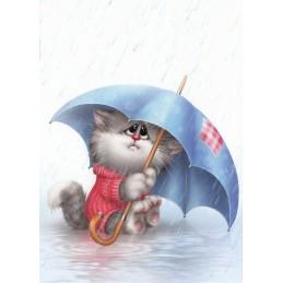 Alone in the Rain - Alexey Dolotov - Postcard