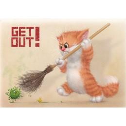 Get out! - Alexey Dolotov - Postkarte