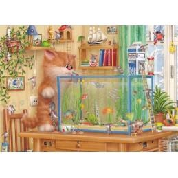 At the Aquarium - Alexey Dolotov - Postcard