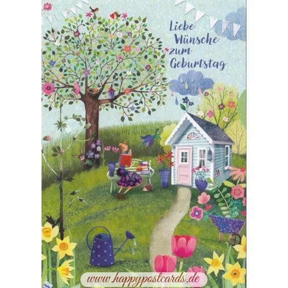 Liebe Wünsche zum Geburtstag - Mila Marquis Postkarte