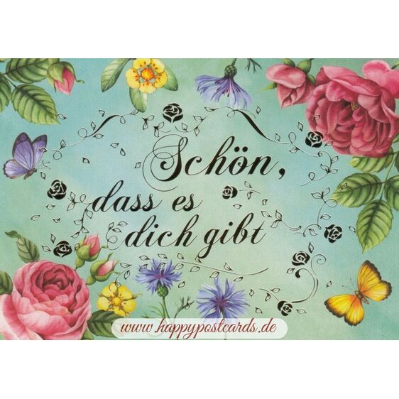 Schön, dass es dich gibt - Nina Chen Postcard