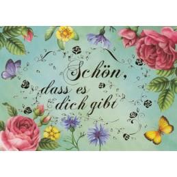 Schön, dass es dich gibt - Nina Chen Postkarte