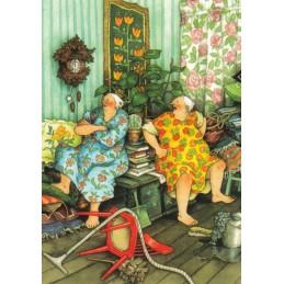 44 - Frauen haben Streit - Postkarte