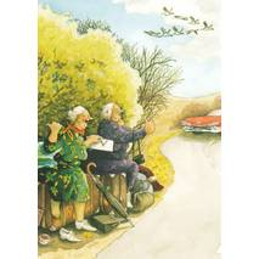 15 - Frauen fahren per Anhalter - Postkarte