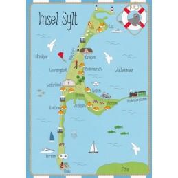 Insel Sylt - Map