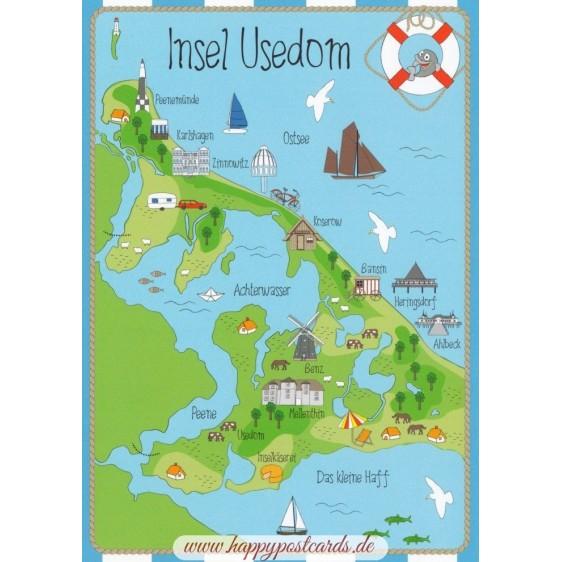 Island Usedom - map