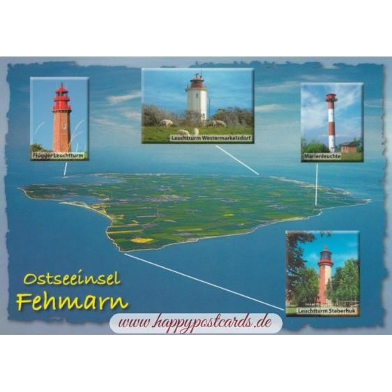 Lighthouses on the island Fehmarn
