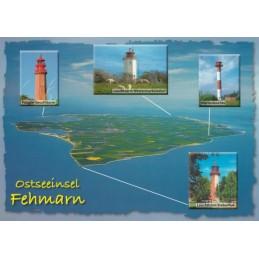Leuchttürme auf Fehmarn - Ansichtskarte