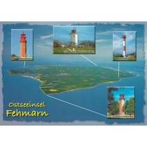 Lighthouses on the island Fehmarn - Viewcard