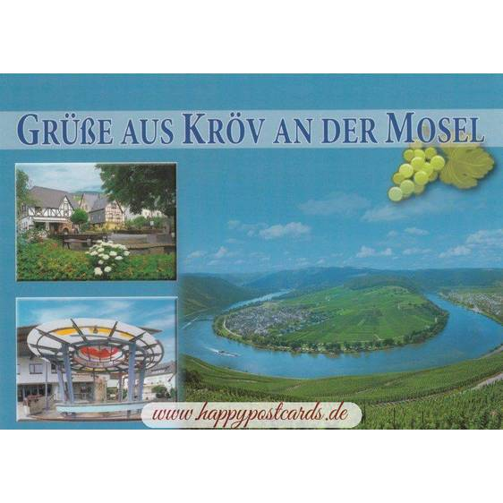 Moselloop in Kröv - Postcard