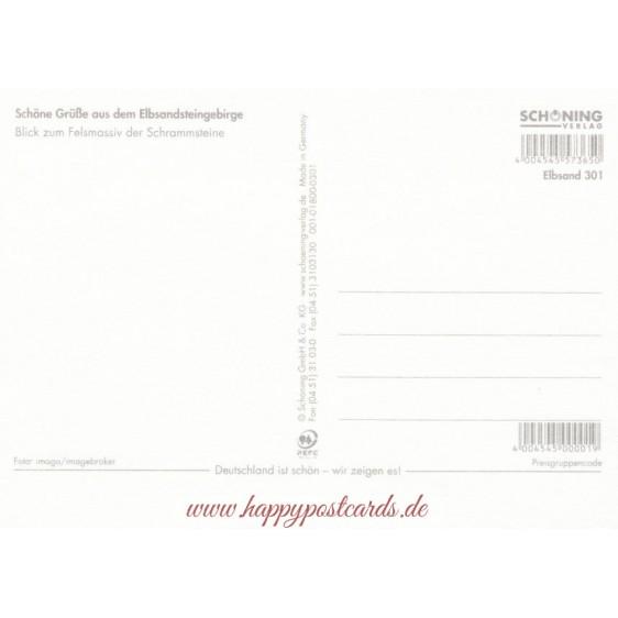 Schrammsteine - Postkarte