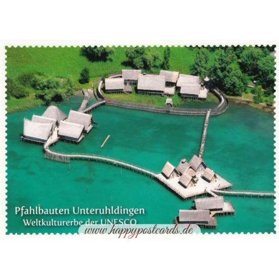 Stilt houses Unteruhldingen - Postcard