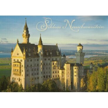 Königsschloss Neuschwanstein-2 - Postkarte